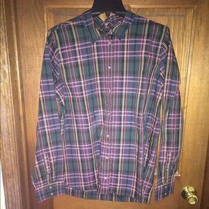 J Crew classic fit boy shirt in signature tartan